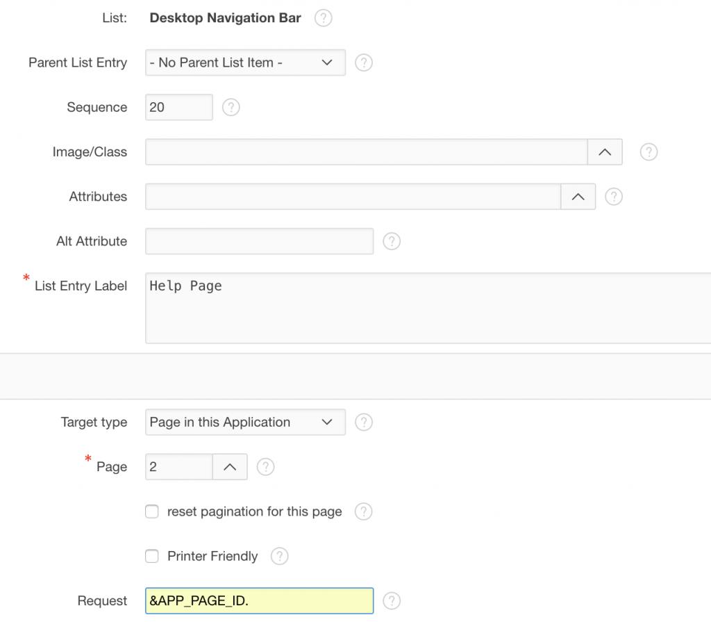 Editing navbar for help page